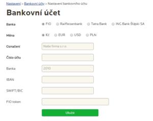 Propojení bankovních účtů