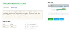 Zveřejnění videa