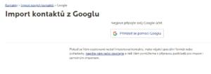 Propojení Google účtu